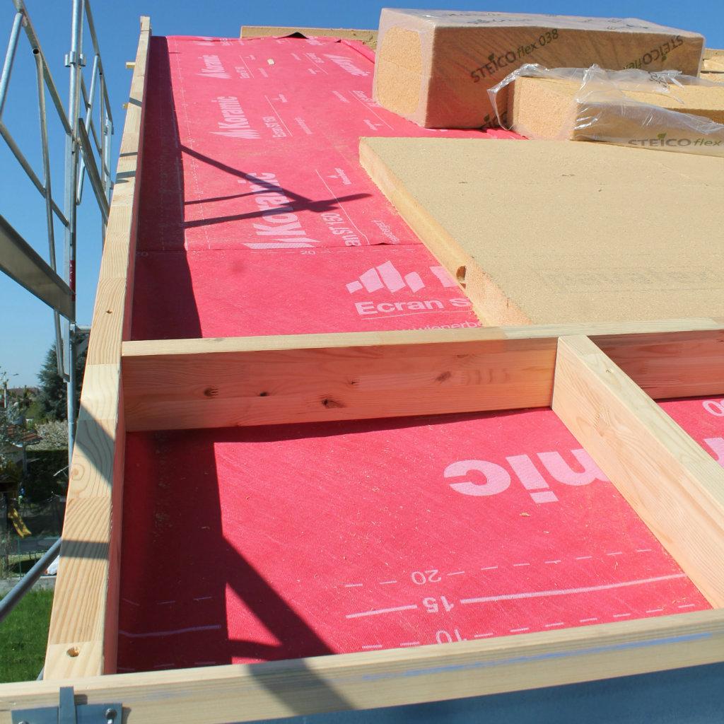 Isolation de toutire avec de la fibre de bois souple à Amphion 74500