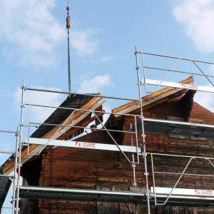 Photo de démontage de toiture à Amphion 74500