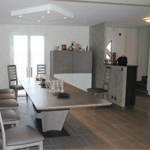 Photo d'un salon rénové à perrignier 74550