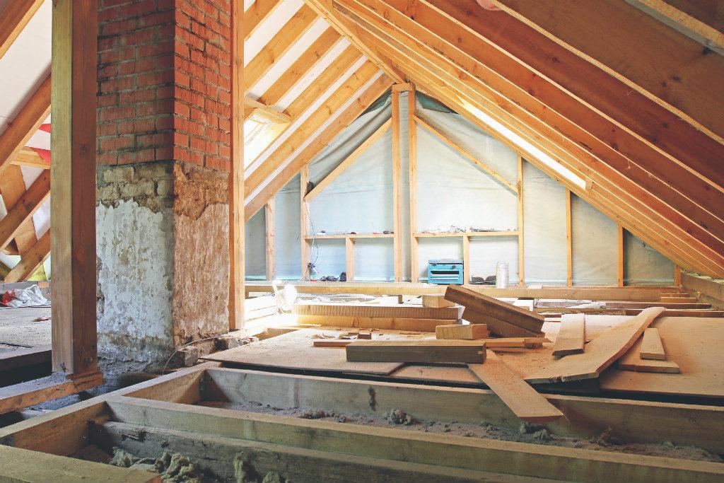 Charpente et isolation d'un toit