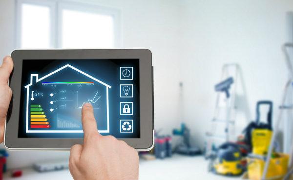 tablette montrant la consommation d'énergie