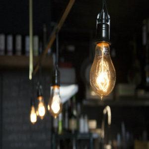 ampoule avec fond flouté