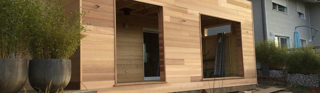 Ossature en bois moderne réalisée par le Mieuxdisant