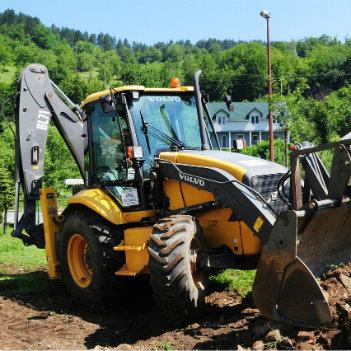 bulldozer en travaux