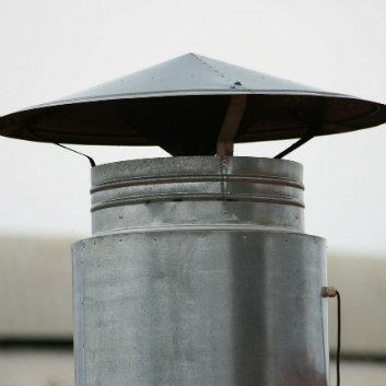 cheminée en aluminium