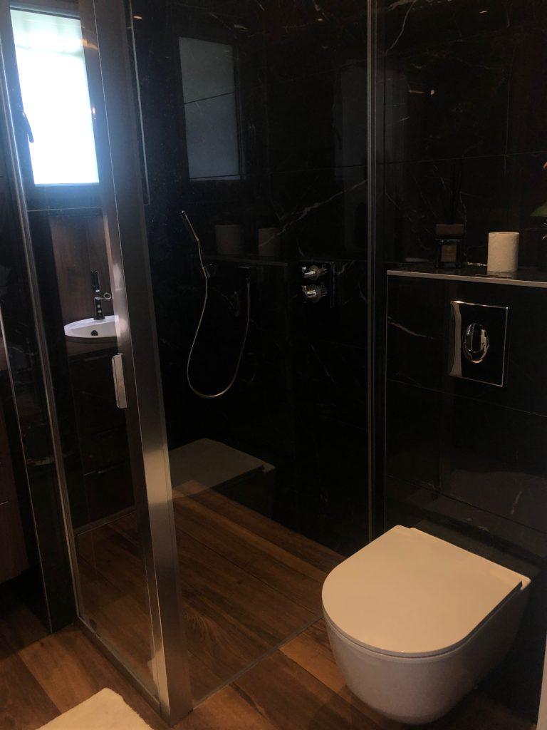 rénovation salle de bain douche encastrée bons en chablais